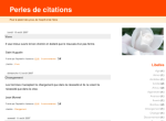 perles citations